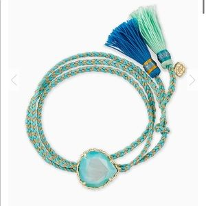 New Kendra scott Kenzie Aqua Friendship Bracelet